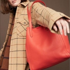 J Crew Signet Tote in Red NEW